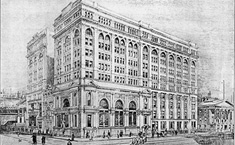 illustration of stock exchange building