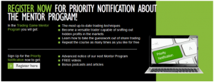 priority notification to the louise bedford trading game mentor program