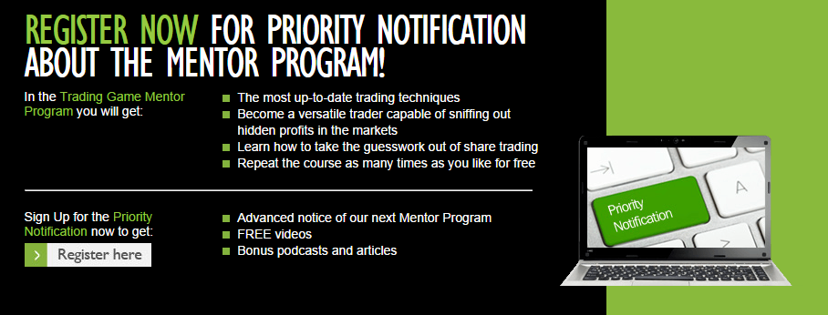 priority notification to Louise Bedford's mentor program course
